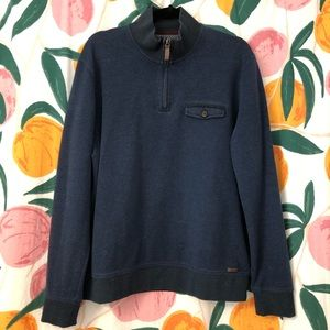 Ted Baker London quarter zip navy blue sweatshirt
